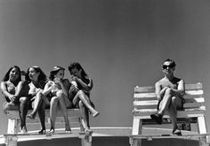 "The hell you lookin at?"" - Priscilla, Jones Beach, 1969 - Buscar con Google"