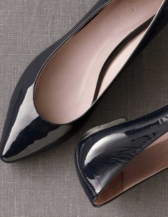 Patent Pointed Flats AR535 Shoes at Boden