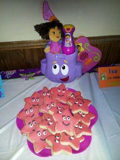 Dora Birthday Ideas   Dora Birthday Party - Star Cookies
