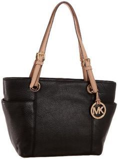 Michael Kors Black Leather Jet Set Item MD Zip « Clothing Impulse