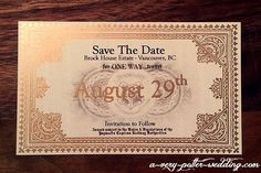 Hogwarts Express Save-The-Date Magnets