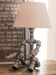 A funny lamp can be made of pipes