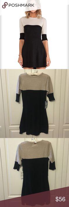 "NWT For Love and Lemons ""BRR"" Sweater Dress XS Sweater Dress by For Love and Lemons in ivory and black. 32"" ribbed knit edges, 45% acrylic 25% viscose 20% nylon 10% angora. For Love and Lemons Dresses Mini"
