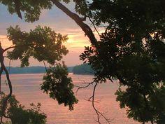 Sunset on Lake Ouachita in Arkansas