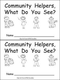 Printables Free Community Helpers Worksheets free community helper flip book kindergartenklub com helpers fun for kindergarten this emergent reader little is a great way to begin reading with young students while also