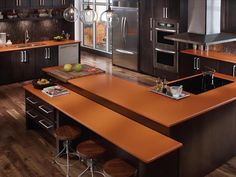 Orange Silestone Quartz Countertops