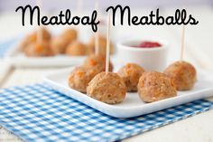 Make these easy Meatloaf Meatballs for a weeknight dinner that is sure to please the entire family! If you love meatloaf, you will love these meatballs!