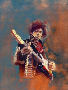 "Saatchi Online Artist Kievan Havens; Painting, ""Jimi Hendrix"" #art"