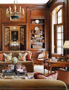 This would be the library in my English country house; the shelves would be full of books.