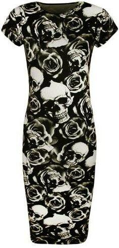 ^♥^ Skull & Black Rose Print Dresses, Leggings - http://www.amazon.com/s/?_encoding=UTF8&bbn=1036592&camp=1789&creative=390957&keywords=Skull%20Rose%20Print%20Dress%20papermoon&linkCode=ur2&qid=1401962166&rh=n:1036592,k:Skull%20Rose%20Print%20Dress%20papermoon,p_89:PaperMoon&rnid=2528832011&tag=goreydetails-20&linkId=OQUUVA2MUU67EDT7