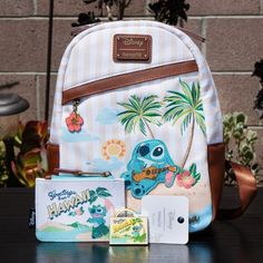 Loungefly Disney Stitch Aloha Mini Bag on Mercari Cute Disney Outfits, Disney Themed Outfits, Stylish School Bags, Stitch Backpack, Cute Mini Backpacks, Lilo And Stitch, Disney Stitch, Mini Mochila, Disney Purse