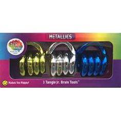 Tangle Jr. Metallic Brain Tools (3-pack)