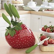 6 piece strawberry knift set What ? I need this! Too bad it is $ 60.00!