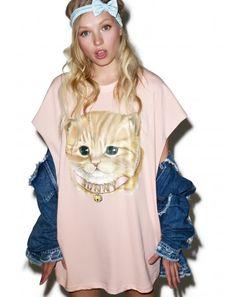 #DollsKill #lookbook #photoshoot #model #LittleSunnyBite #sunny #cat #tee #dress #shirt #shortsleeve #kitty #meow