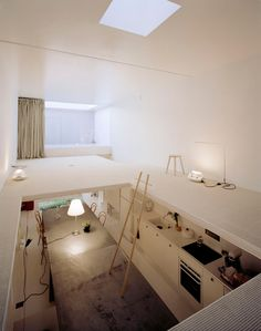 Articles about hideyuki nakayamas 2004 house. Dwell is a platform for anyone to write about design and architecture. Loft Spaces, Small Spaces, Living Spaces, Modern Spaces, Living Room, Living Area, Architecture Design, Japanese Architecture, Pavilion Architecture