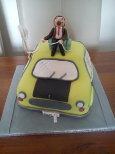 Mr Bean & his car cake x Mr Bean Cake, Bean Cakes, Cupcake Cakes, Cupcakes, Beans, England, Car, Desserts, Food