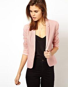Image 1 ofASOS Linen Tailored Blazer