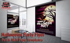 This poster can also be used for a Halloween party, exhibition or almost any other advertising purposes, and you can even use it like a poster/flyer mockup. The package comes with a Full &  Half Page Templates.