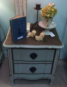 {SOLD} French Provential bedside table