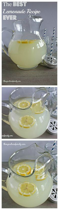 The BEST Lemonade Recipe EVER! We have all dreamed of having a lemonade stand. With this recipe you would never go out of business. Good Lemonade Recipe, Best Lemonade, Homemade Lemonade Recipes, Lemonade Diet, Refreshing Drinks, Summer Drinks, Fun Drinks, Recipes, Appetizers