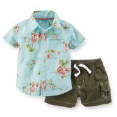 Perfect for a trip to the beach, this quick and easy outfit has so much style with classic cargos and a tropical shirt.<br>
