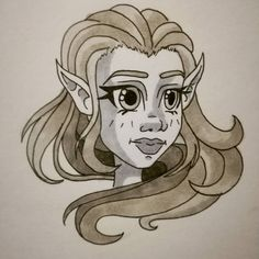 Another random sketch  copicmarkers #copic #girl #blackandwhite #illustration #drawing #paper #curlyhair #blush #longhair #elf #fantasy Copic, Digital Illustration, Elf, Curly Hair Styles, Blush, Sketch, Illustrations, Fantasy, Random