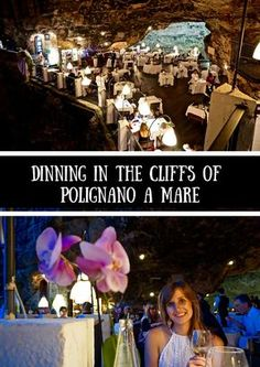Dining in the cliffs of Polignano a Mare is just one of the many this to do and see in Polignano a Mare!