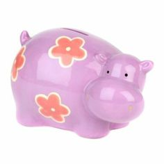 Give your child a place to keep their pennies with this Purple Hippo Bank #kirklands #kirklandskids