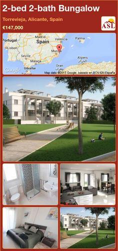 2-bed 2-bath Bungalow in Torrevieja, Alicante, Spain ►€147,000 #PropertyForSaleInSpain
