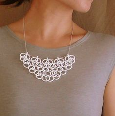 3D printed necklace.Join the 3D Printing Conversation: http://www.fuelyourproductdesign.com/