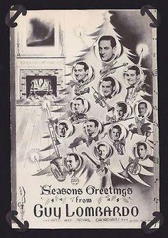 GUY LOMBARDO BIG BAND VINTAGE CHRISTMAS CARD FLYER