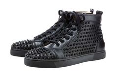 The Christian #Louboutin Studded Hightop Sneaker Makes an #Edgy Statement trendhunter.com