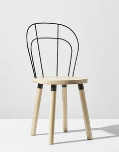Industrial aesthetic joins with the warmth of the wood - Partridge Chair by DesignByThem at ICFF