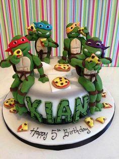 Ninja turtle cake....