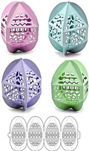 Silhouette Online Store - View Design #8648: 3 d easter eggs