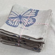 Butterfly - Linen Napkins - hardtofind.