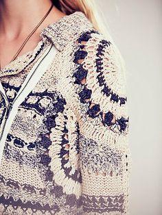 Crochet Moto Jacket