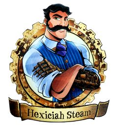 Robecca Steam and Hexiciah Steam. SDCC2016. NEW Profile arts