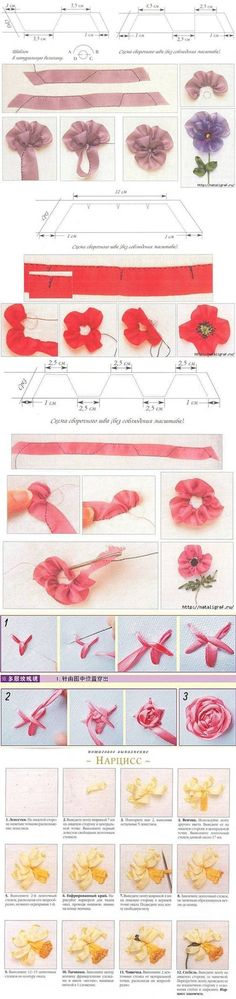 DIY Sewing Ribbon Flowers Techniques