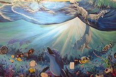 Undersea mural by Arlene Mcloughlin