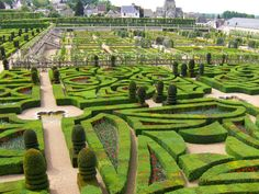 Chateau Villandry, Gardens, Loire Valley, France
