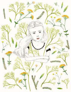 WALLFLOWER illustration by Emily Taylor. Love!