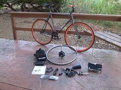 E Bike Kit: 350 Watt Geared Front Hub Motor & Lead Acid Battery in for Review | Electric Bike Report - YouTube