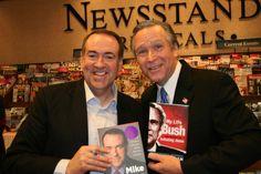 Mike Huckabee and John C. Morgan as George W. Bush