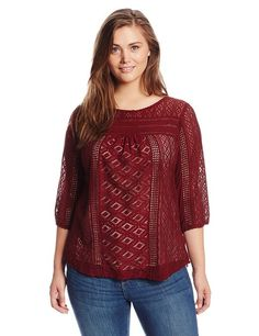 Lucky Brand Women's Plus-Size Tanya Mixed Lace Top! Enter shopping here: http://amzn.to/1xbmLAc #fashion #style #stylish #love #TagsForLikes #me #cute #photooftheday #nails #hair #beauty #beautiful #instagood #instafashion #pretty #girly #pink #girl #girl #big girl -  winter  #sweater -  #Couture,  #cold