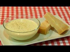 Receta fácil de salsa de queso - YouTube Pudding, Youtube, Desserts, Gastronomia, Cheese Sauce, Deserts, Meals, Mexican Meals, Garlic