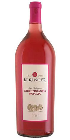 """Beringer White Zinfandel Moscato, California: """"Distinctive raspberry perfume with lychee, tropical fruit and enticing floral notes. This wine has mouthwatering fruit flavors with a moderately sweet palate. The Beringer Classics White Zinfandel Moscato is a relatively full-bodied wine with a refreshing finish."""" – Winemaker's notes"""