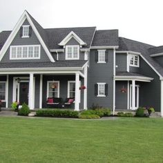 Gray Exterior House Colors Design Ideas, Pictures, Remodel, and Decor