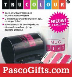 TruColour Mokken: Uw koffiemok in iedere gewenste kleur. http://www.pascogifts.com/nl/promotiemateriaal/promotieartikelen/mokken-bedrukken/trucolour-mokken