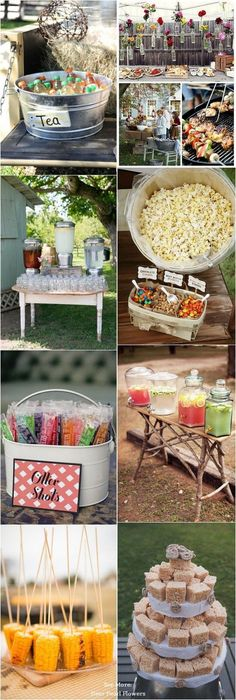 Top 25 Rustic Barbecue BBQ Wedding Ideas / http://www.deerpearlflowers.com/barbecue-bbq-wedding-ideas/ #BarnWeddingIdeas